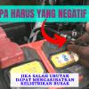 3 Alasan Melepas Kabel Negatif Baterai Lebih Dulu